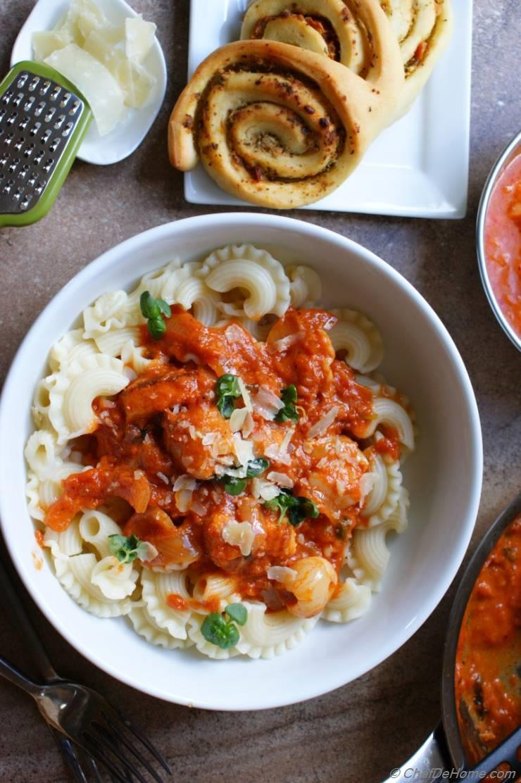 Masala Pasta in Spiced Tikka Masala Sauce