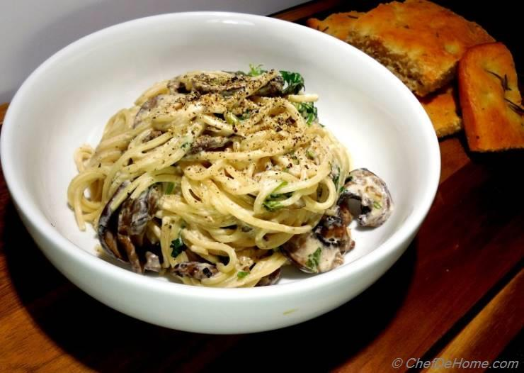Goat Cheese and Mushroom Stroganoff
