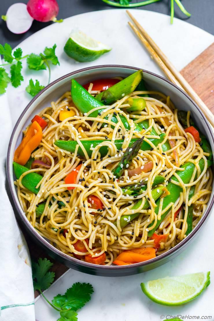 Spicy Soba Noodles Vegetable Stir Fry Recipe Chefdehome Com