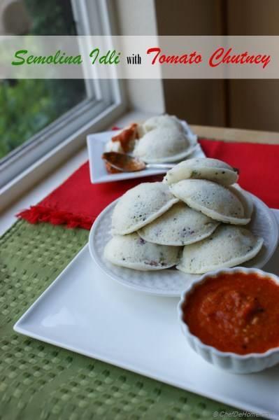 Onion and Cilantro Steamed Semolina Cakes