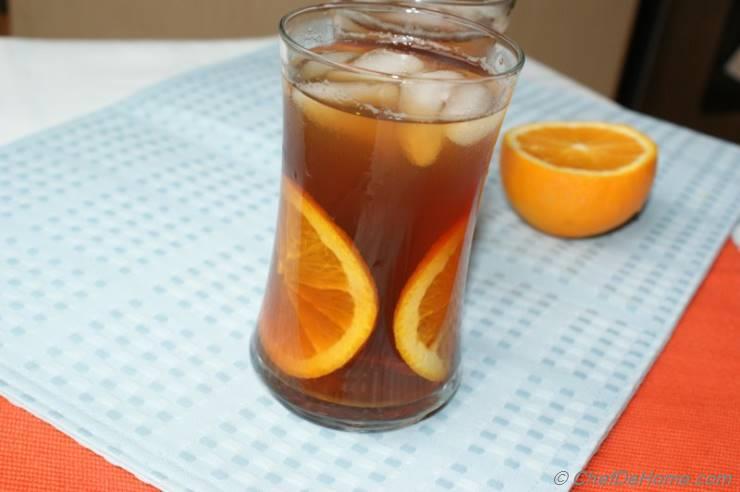 Refreshing Orange Ice Tea
