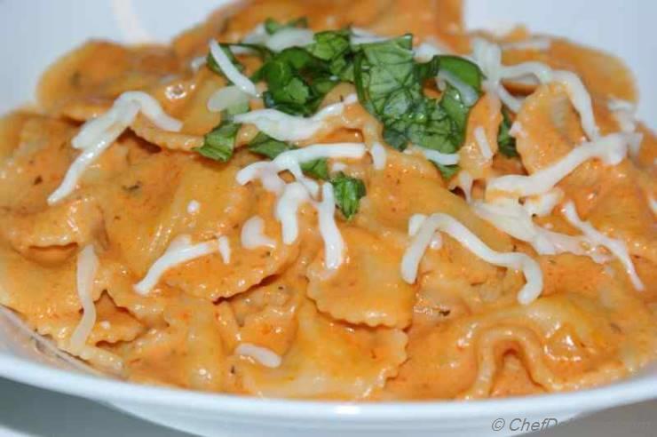 Pasta in Vodka Cream Sauce Recipe | ChefDeHome.com