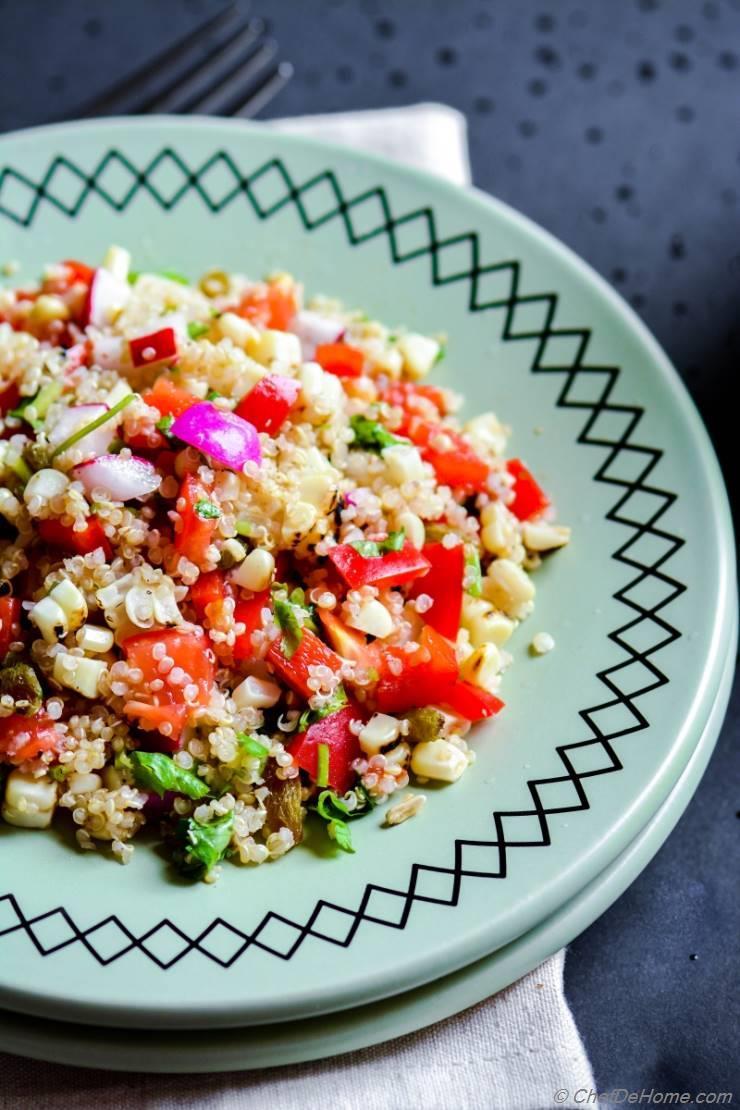 Quinoa And Roasted Corn Salad