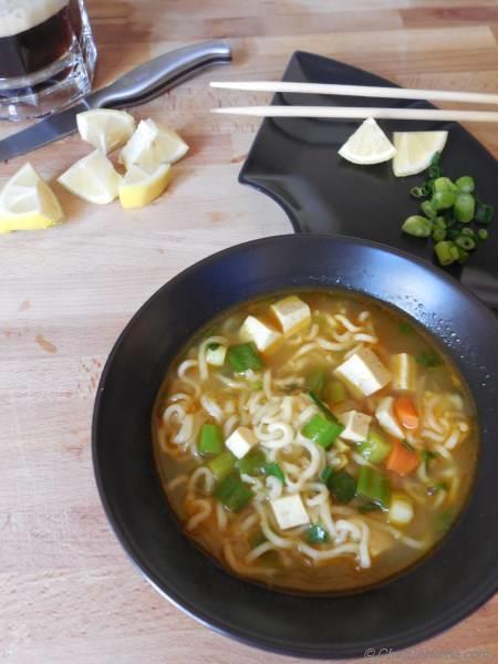 Ramen Noodles in Soup