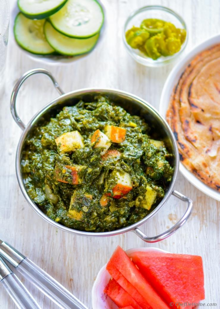 Restaurant Style Palak Saag Paneer Recipe Chefdehome Com