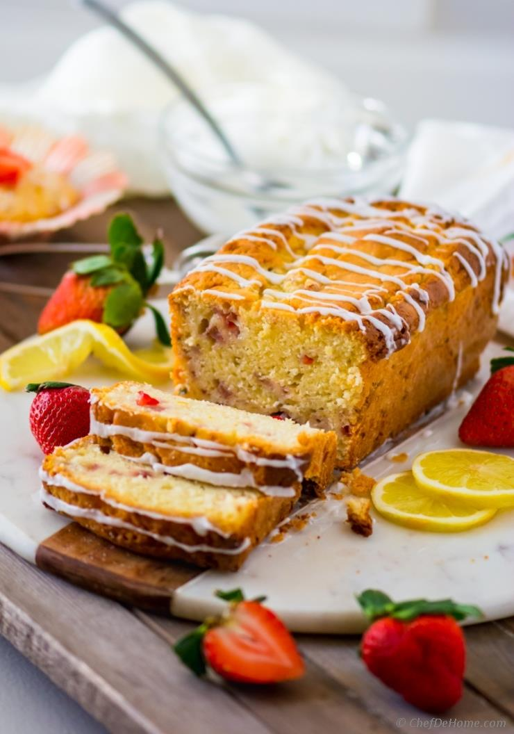 strawberry pound cake lemon strawberry pound cake recipe chefdehome 7762