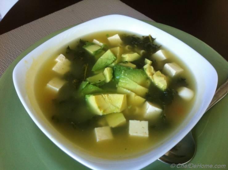Kale Soup with Tofu
