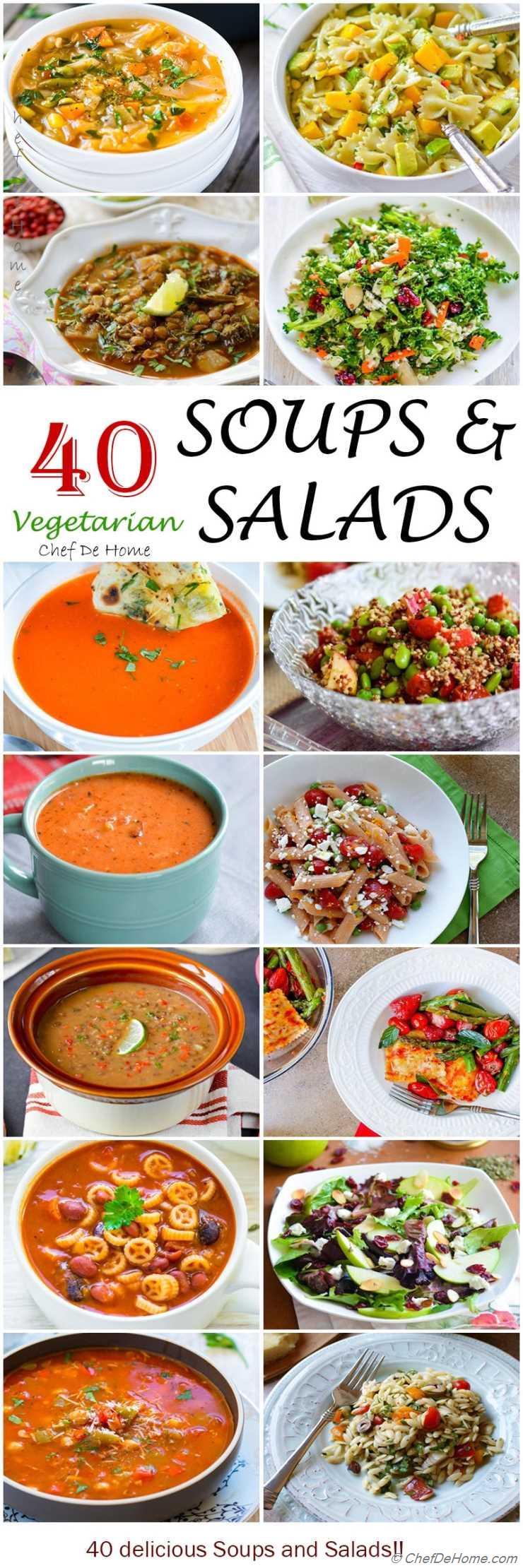 40 Vegetarian Soup and Salad Recipes