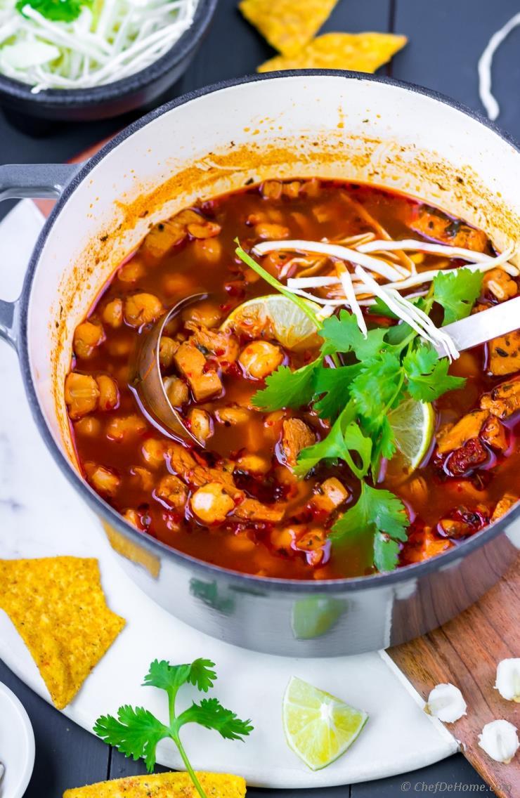 Easy Posole Rojo Turkey Soup
