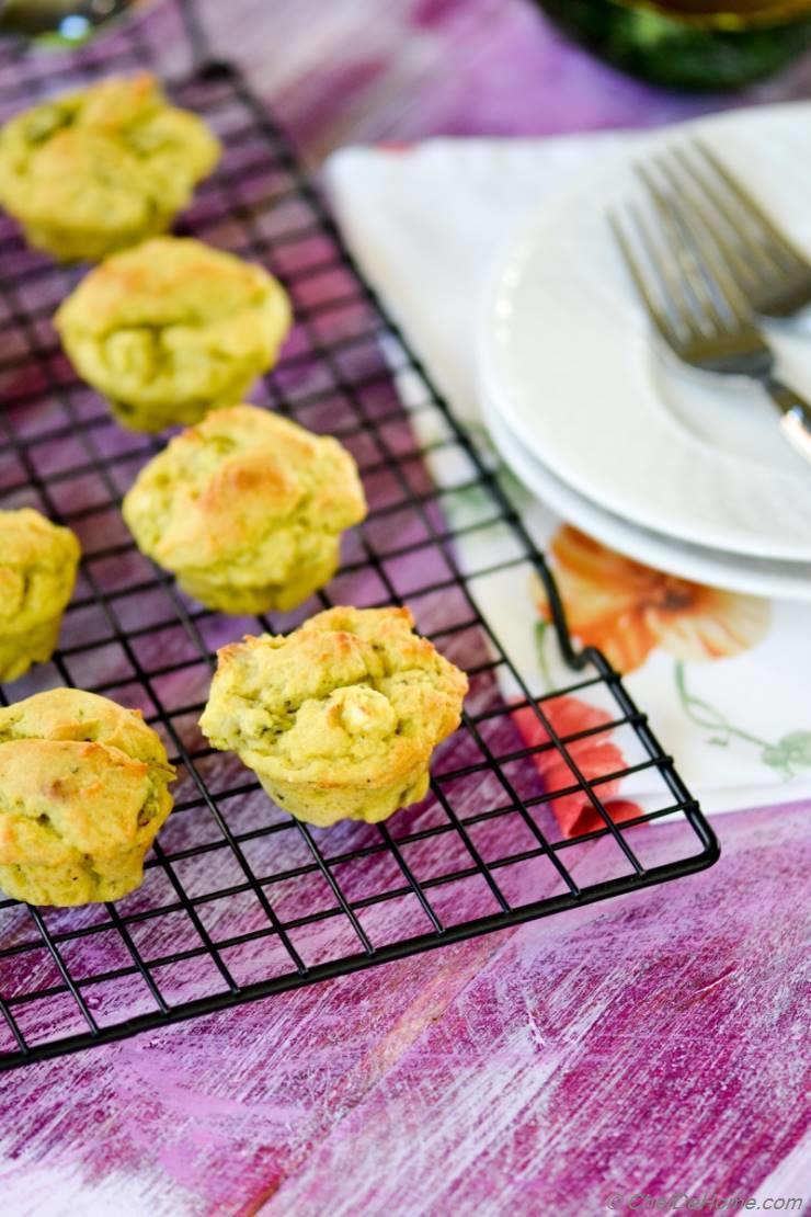 Vegan Avocado-Scallion Bake Sale Muffins