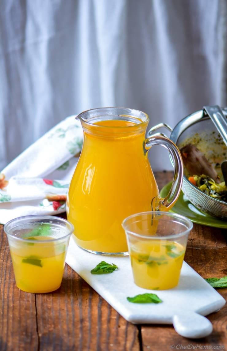 Homemade Vegetable Stock in Pressure Cooker