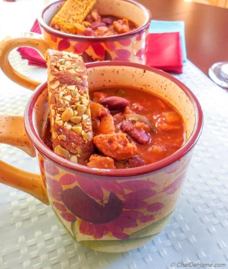 Vegetarian Sausage Chili