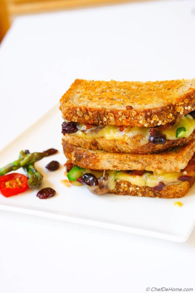 Cranberries, Asparagus and Pickled Jalapeno Grilled Cheese Sandwich ...