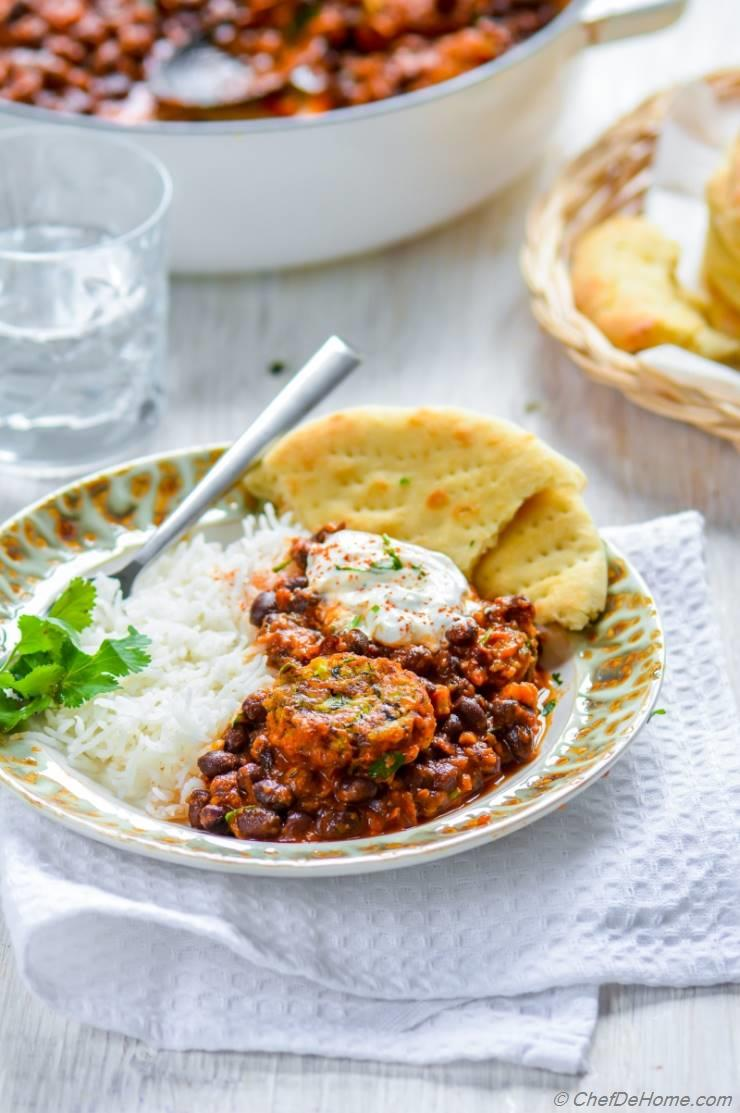 Meatless Meatballs with Beans and Tomato Sauce