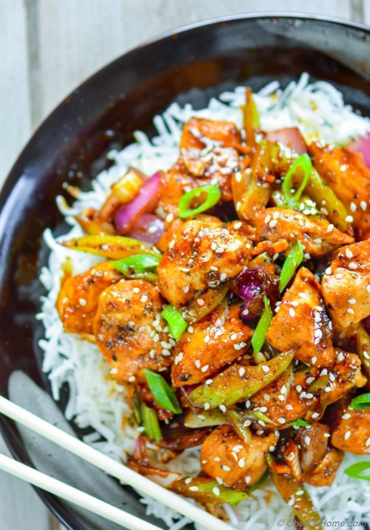chinese black pepper chicken recipe  chefdehome
