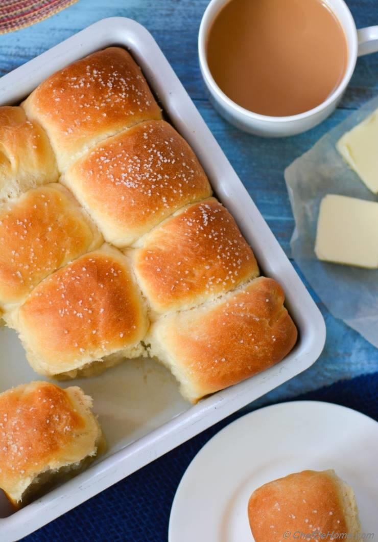 The Best Parker House Bread Rolls From Omni Parker House Rolls Recipe Chefdehome Com
