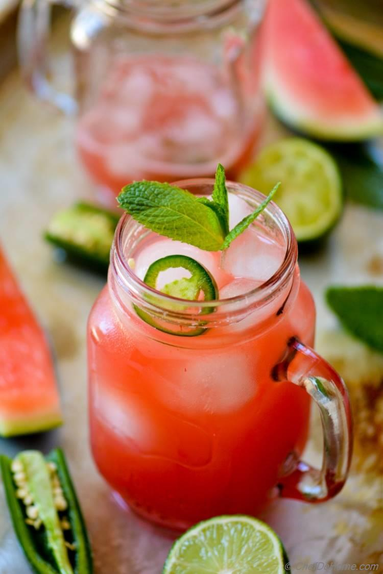 Mexican Jalapeno and Watermelon Agua Fresca | chefdehome.com