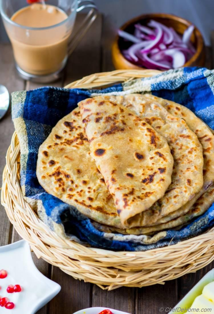 Aloo paratha recipe chefdehome im from punjab region in india where aloo paratha is a specialty and my mother makes worlds best tasting parathas i had so many versions of parathas forumfinder Image collections
