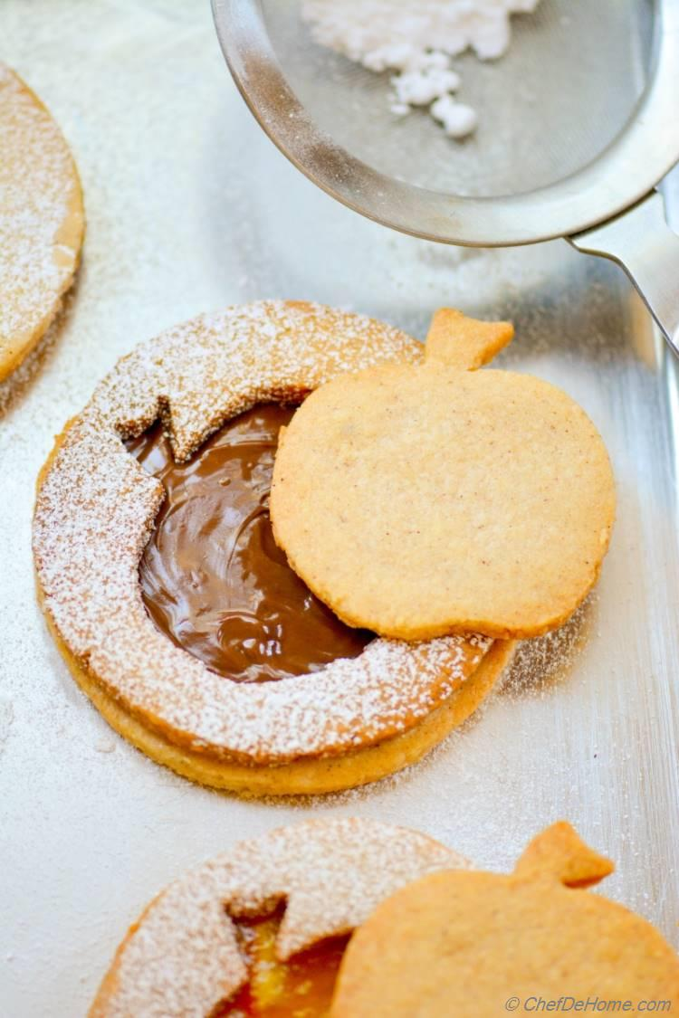 Welcome just a hint of fall season into your home with these Beautiful Big Apple Linzer Cookies