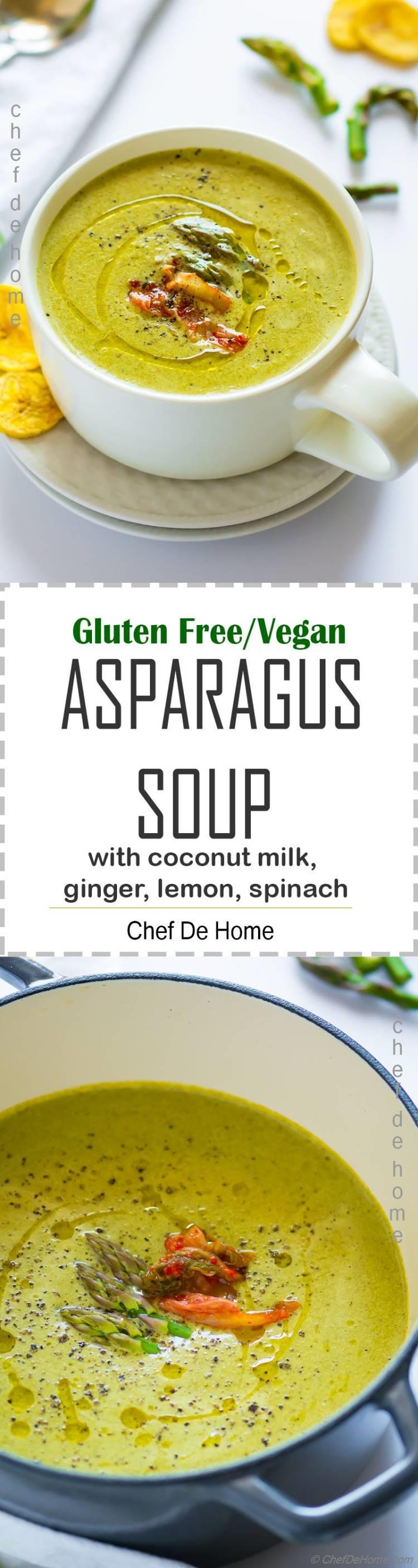 Vegan Asparagus Soup Recipe | ChefDeHome.com