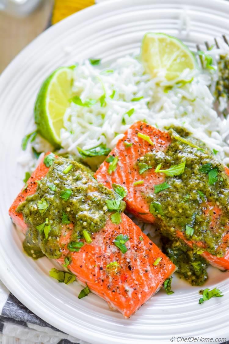 Perfectly flaky omegas rich oven baked salmon ready in just 10 minutes | chefdehome.com