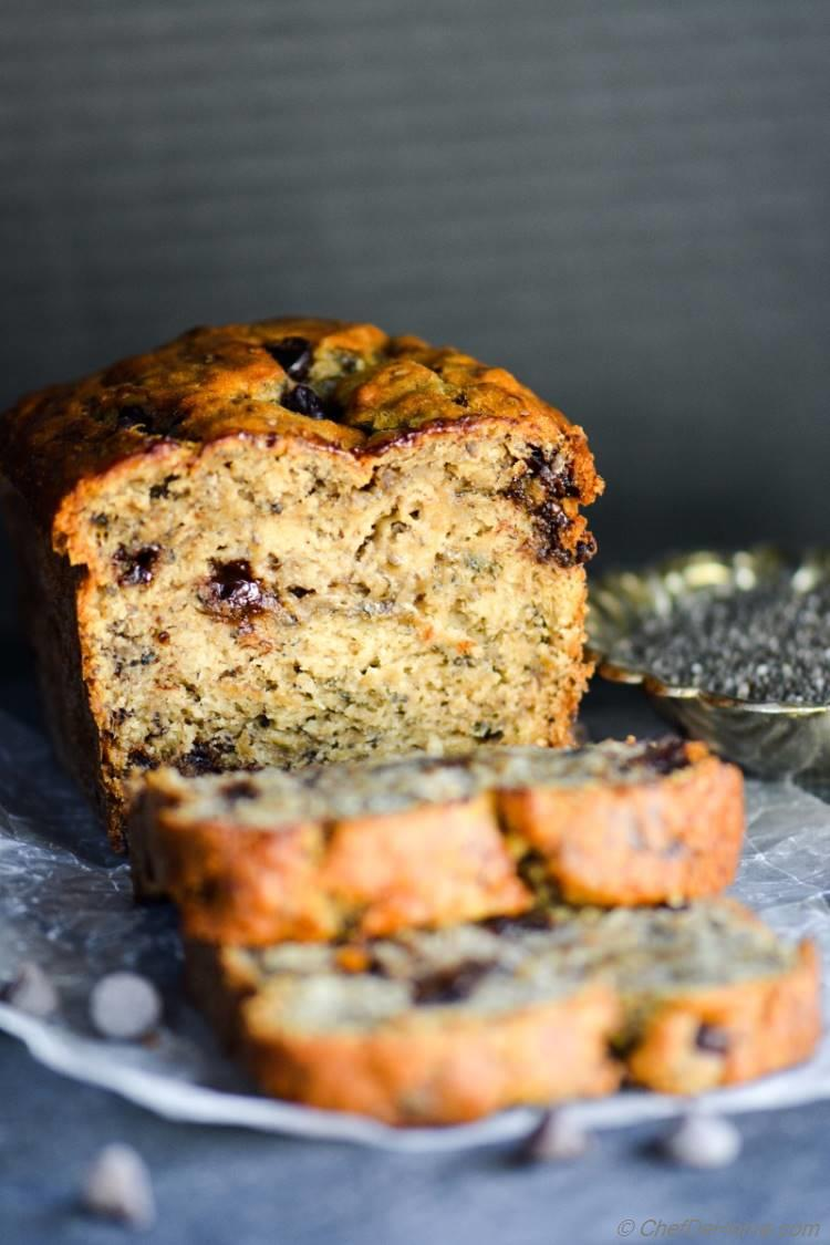 Moist Chia Seeds and Chocolate Chip Banana Bread Perfect Breakfast Chefdehome