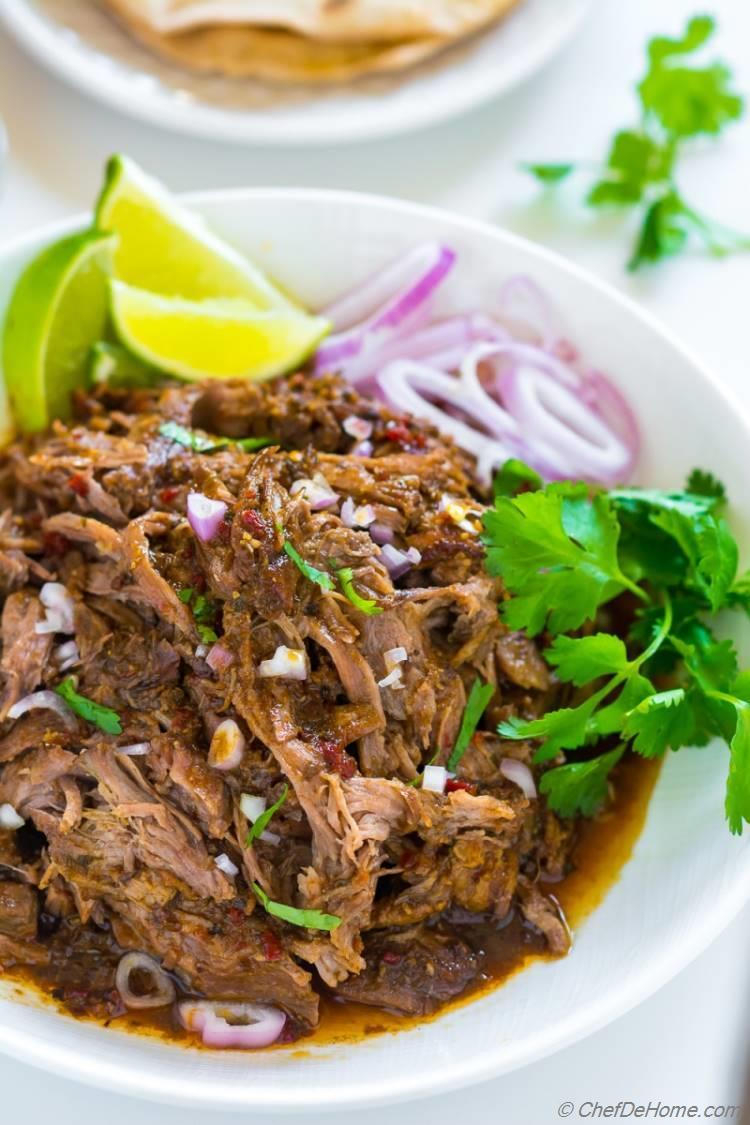 Best Lamb Barbacoa with easy Slow cooker Method