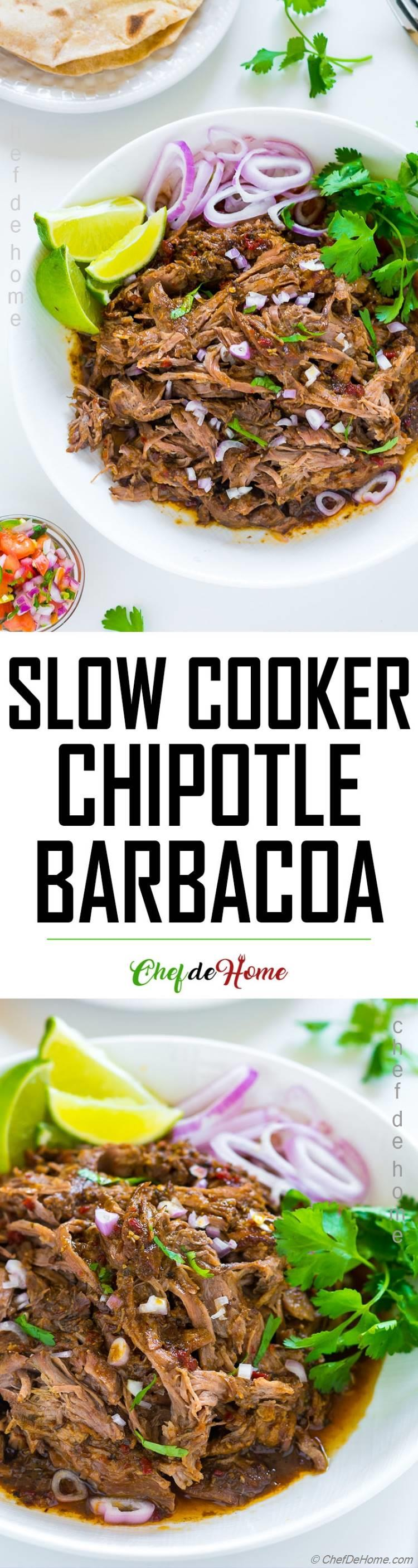 Slow Cooker Chipotle Barbacoa Recipe