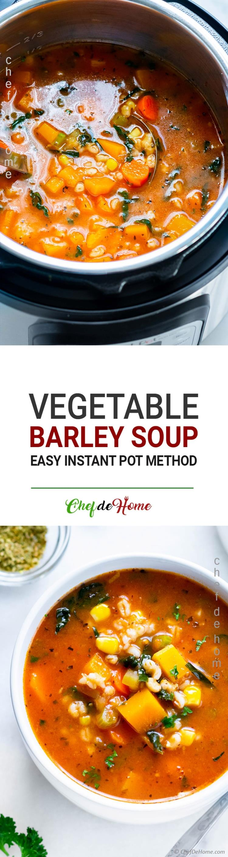 Easy Barley Soup Instant Pot Method