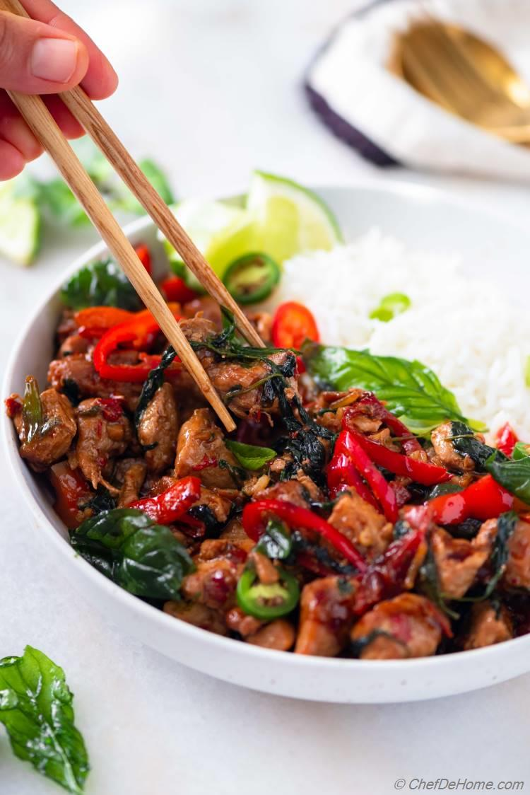 Thai Basil Chicken Traditional Recipe