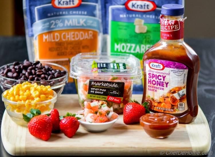 Krafts Products used to make BBQ Chicken Quesadilla | chefdehome.com