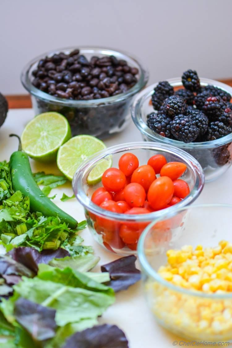 Ingredients for Mexican Black Beans Salad | chefdehome.com