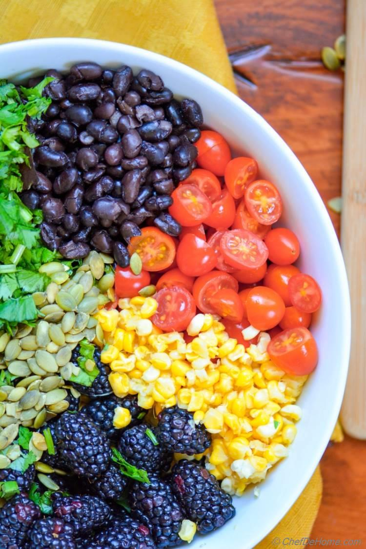Vegan Hearty and Healthy Mexican Black Bean Salad for Lunch | chefdehome.com