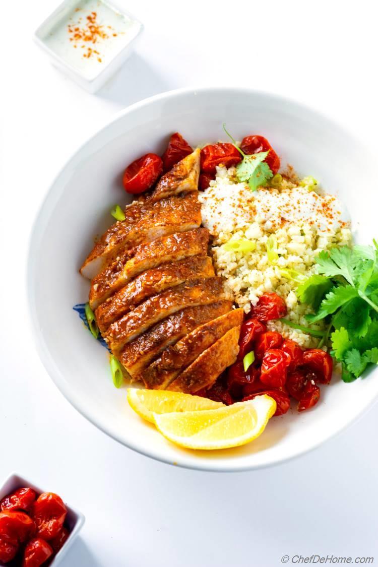 Blackened Chicken Bowl with Cauliflower Rice