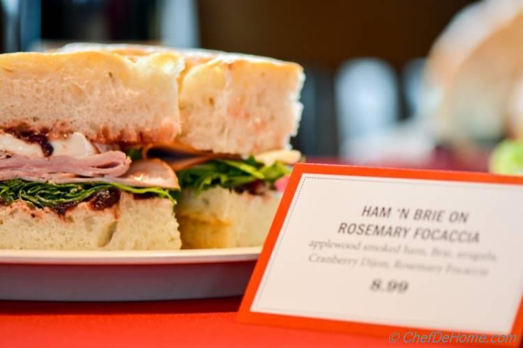 Rosemary Focaccia Bread Sandwich at Boudin | chefdehome.com
