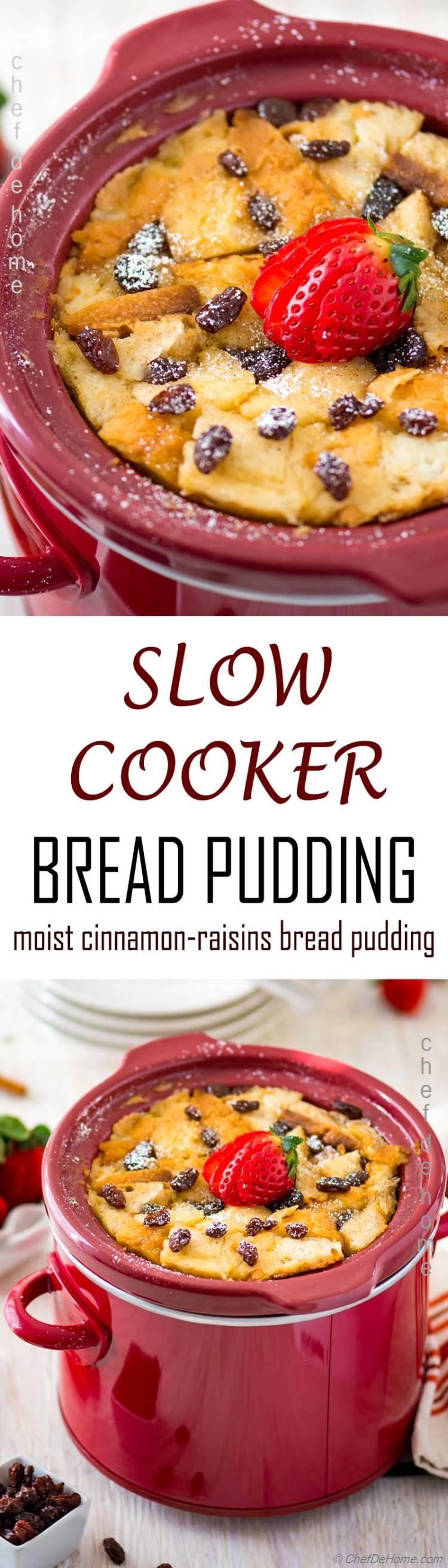 Learn how to make perfect bread pudding in slow cooker