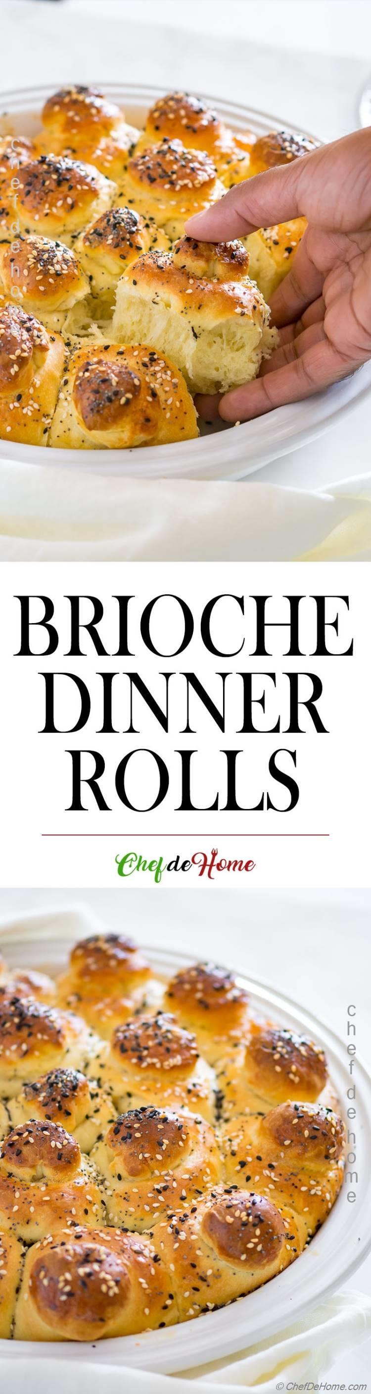 Dinner rolls with brioche dough
