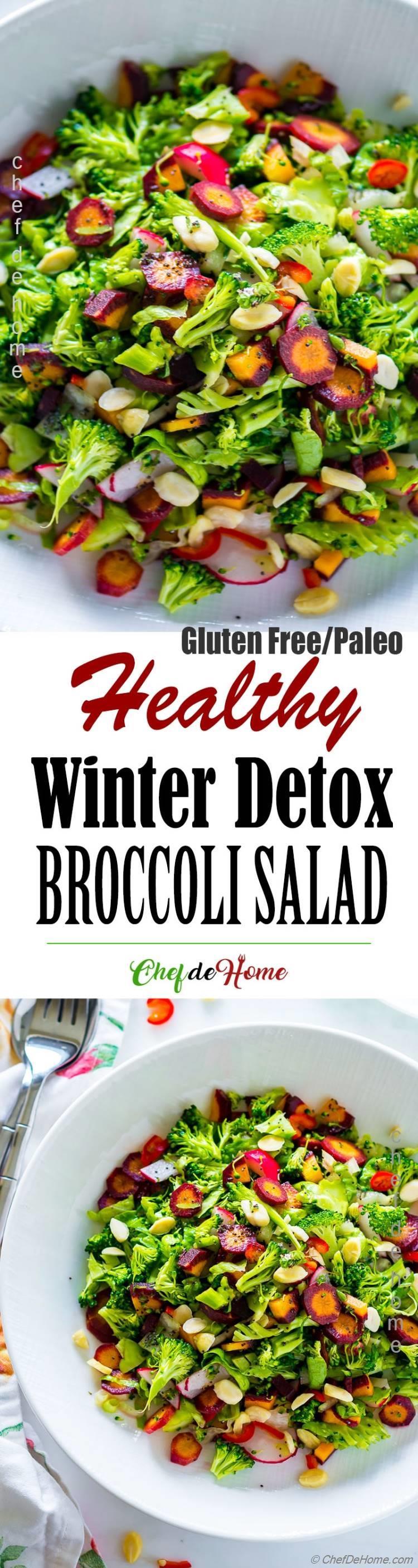 Winter Detox Raw Broccoli Salad