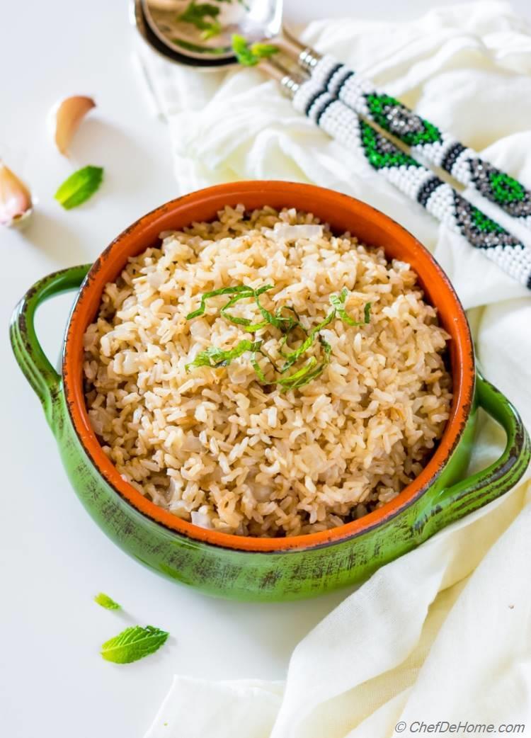 Brown Rice Garlic Rice
