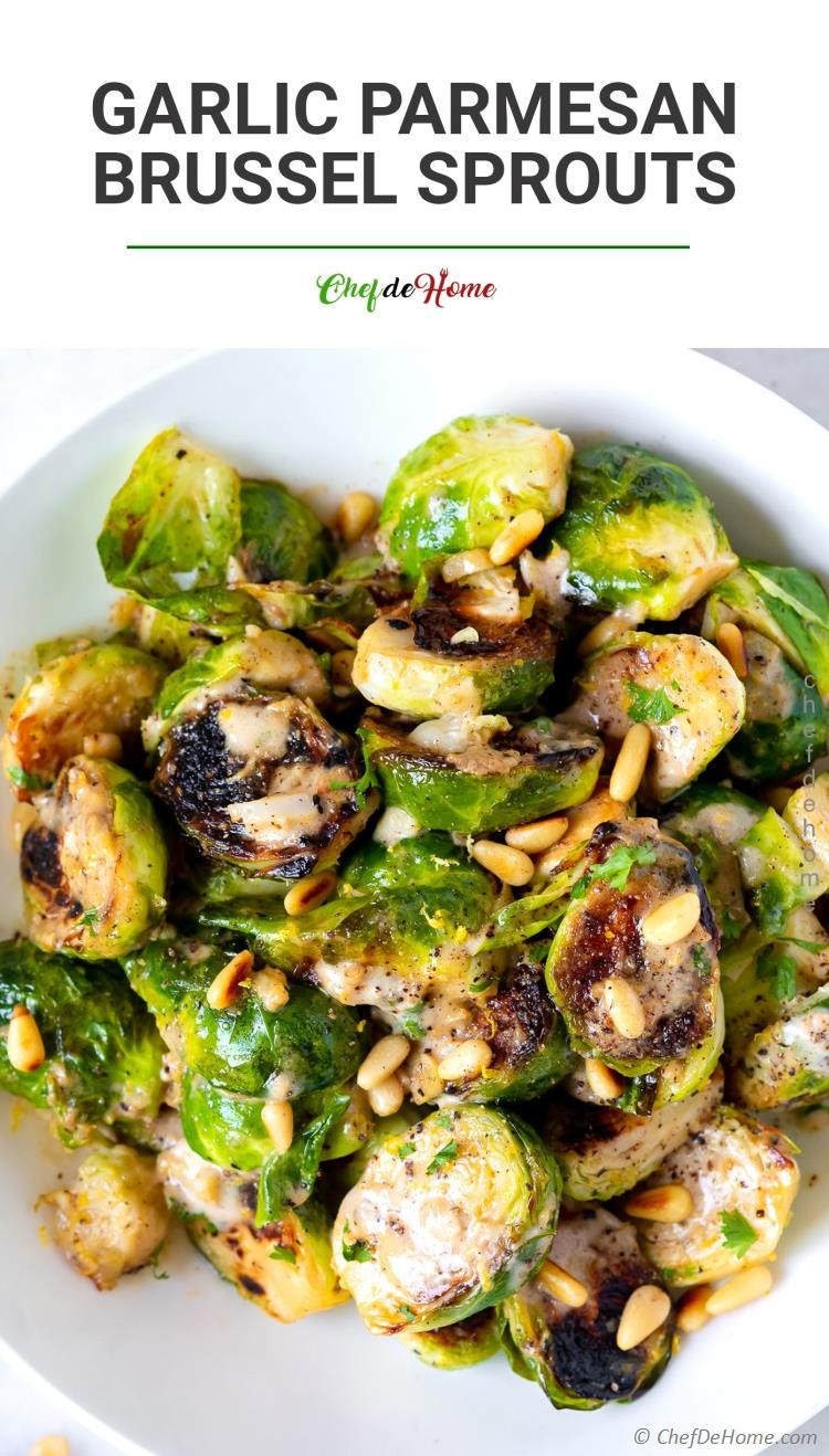 Brussel Sprouts with Garlic Parmesan