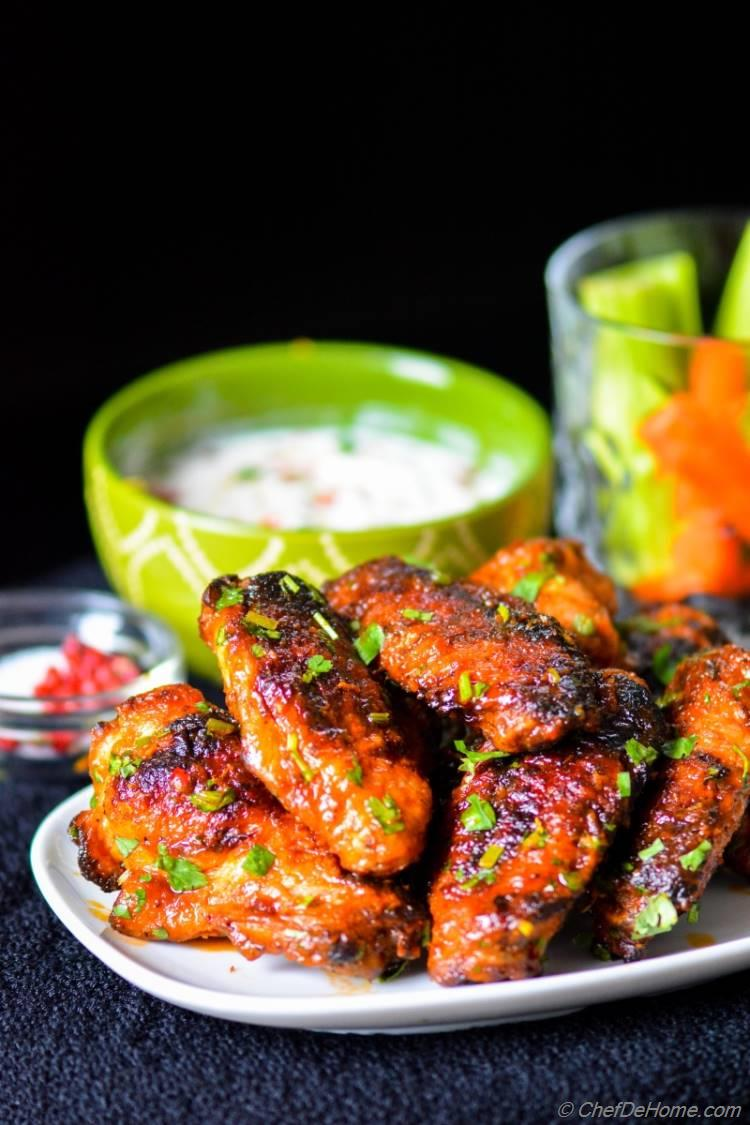 Game Day Classic Buffalo Hot Wings with healthy twist! #chefdehome