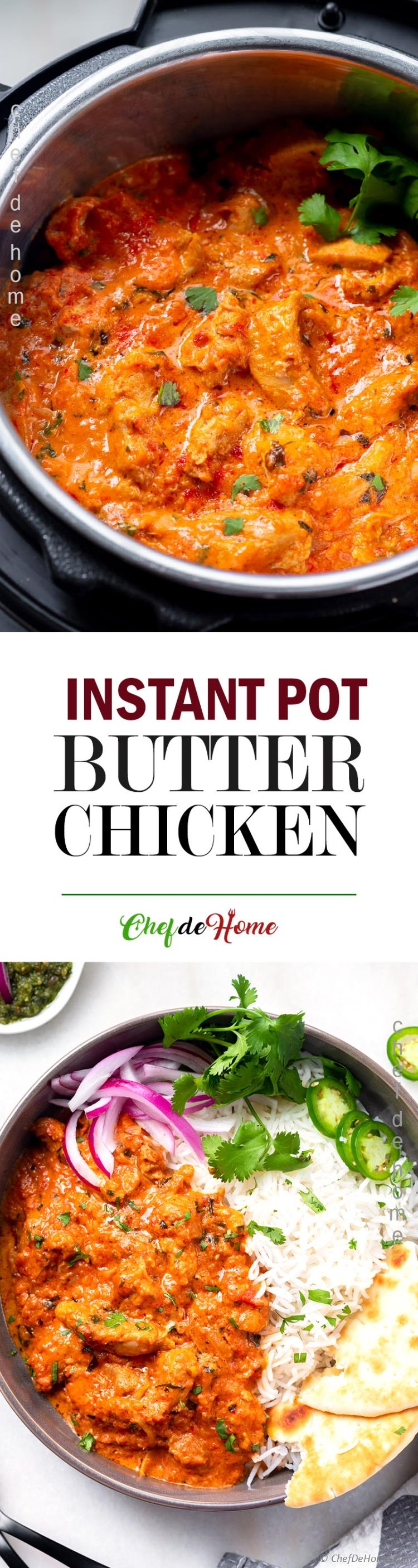 Best Instant Pot Butter Chicken - Tasty Easy