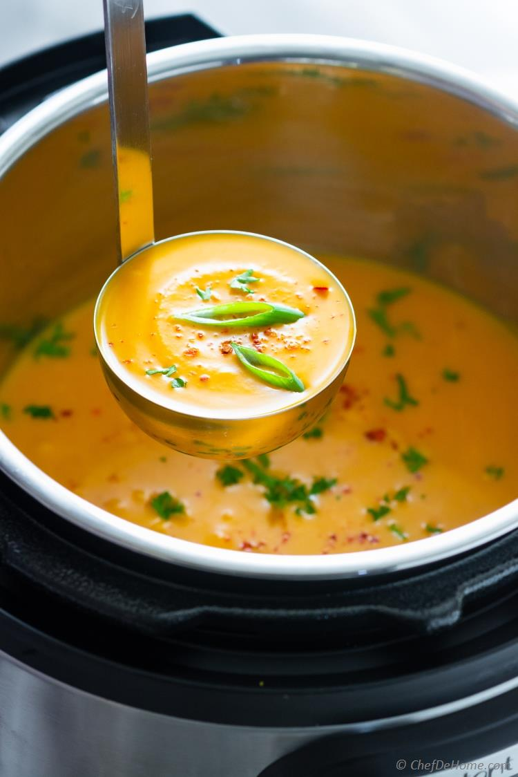 Instant Pot Butternut Squash Soup with Coconut Milk Recipe