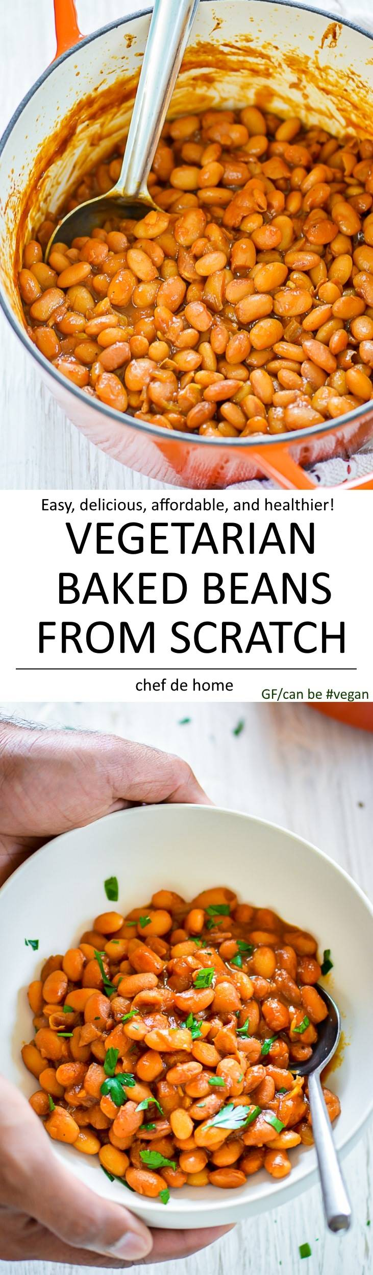 Vegetarian baked beans flavorful healthy and made from scratch | chefdehome.com