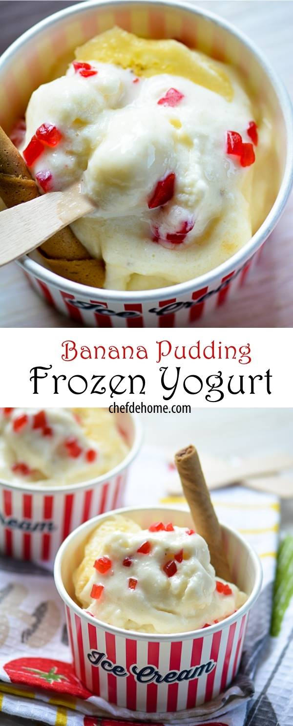 HEalthy Gluten Free Sugar-Free Naturally Sweet - Instant Banana Pudding Frozen Yogurt