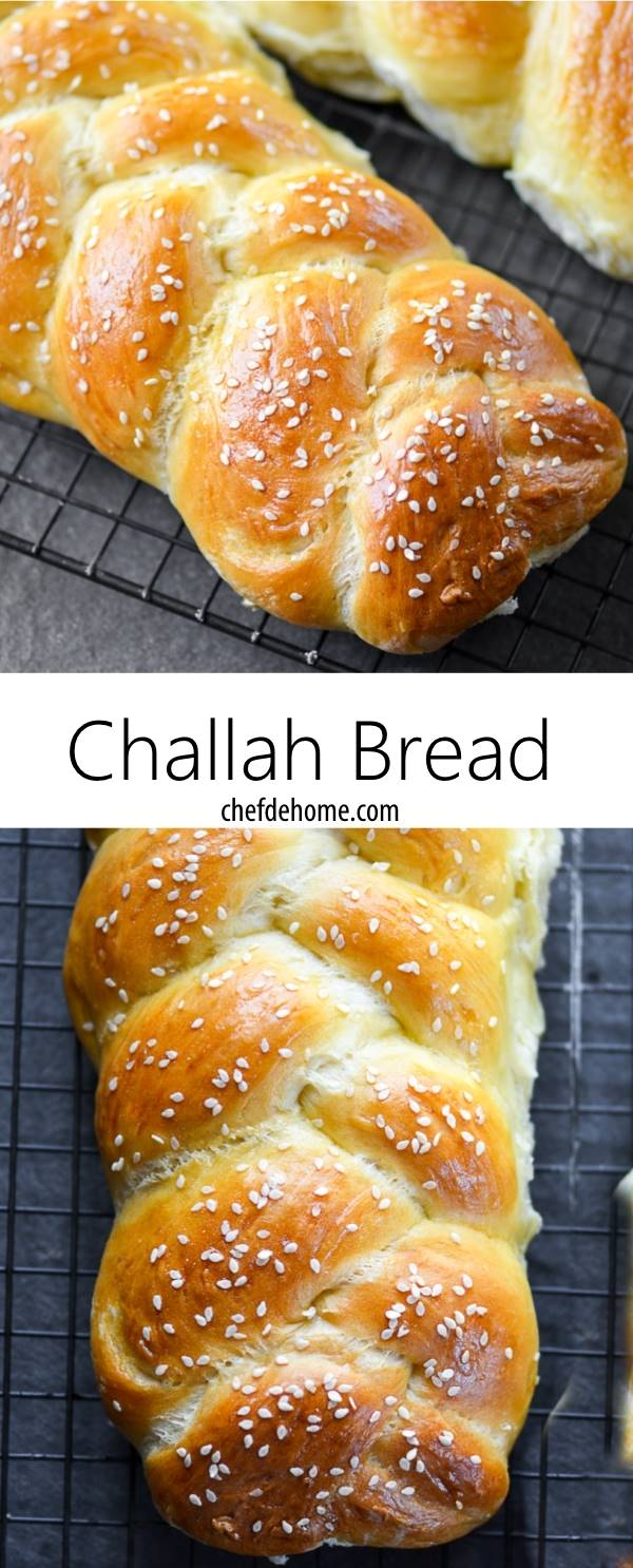 Lite and Moist with Step Pictures - Homemade Challah Bread for Dinner