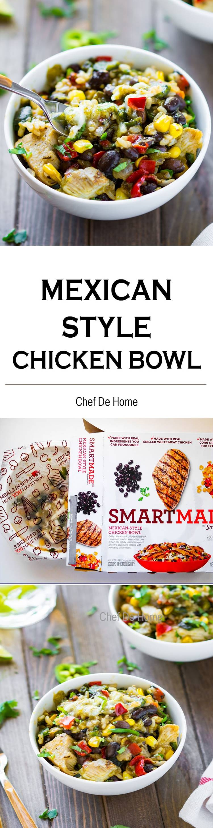 Kraft SmartMade Mexican Style Chicken Bowl with Brown Rice and Black Beans