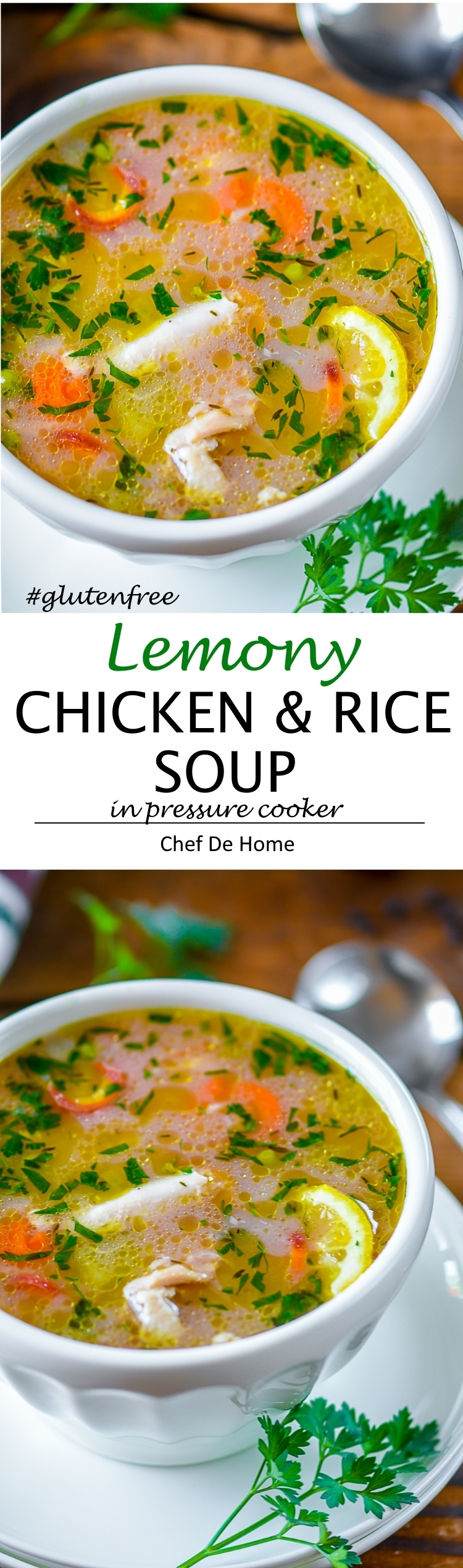 Made from scratch Lemony Chicken and Rice Soup | chefdehome.com