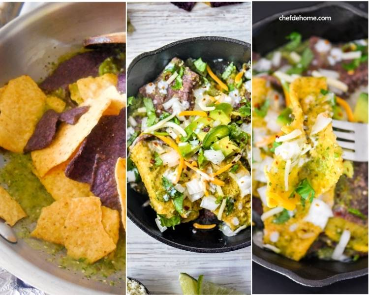 Zesty and Scrumptious bowl of Mexican chilaquile for breakfast in 15 minutes | chefdehome.com