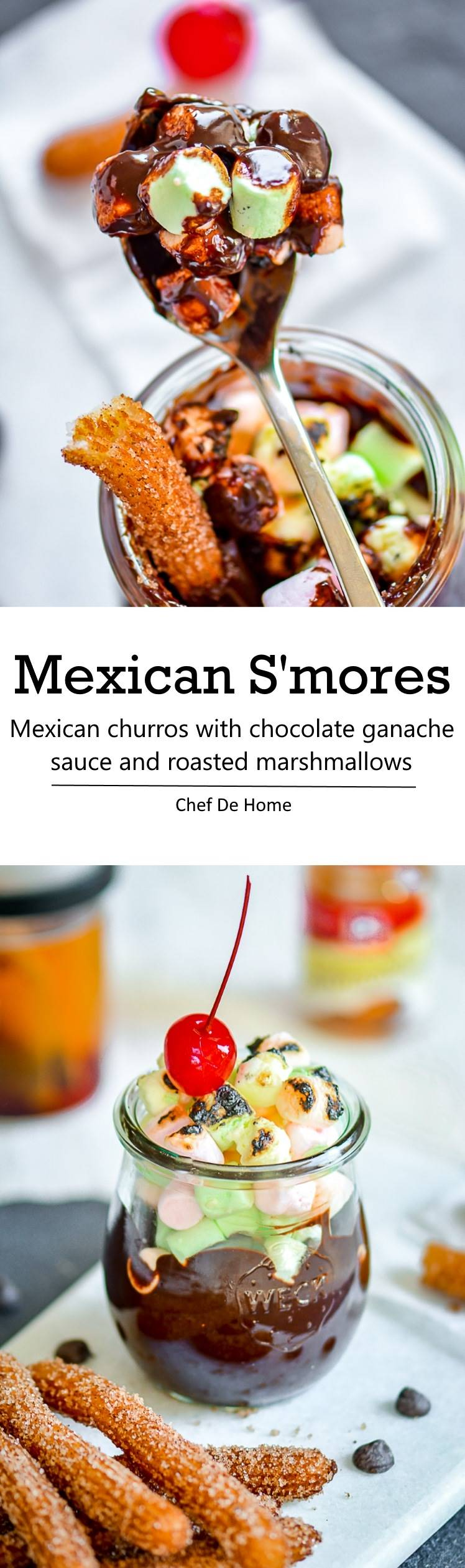 Mexican Chocolate SMores for Cinco De Mayo celebration or simply best summer family times ahead | chefdehome.com